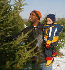 Let your child grow up knowing the fun of choosing your own Christmas Tree at Big Tree Plantation, Morrow, Ohio.